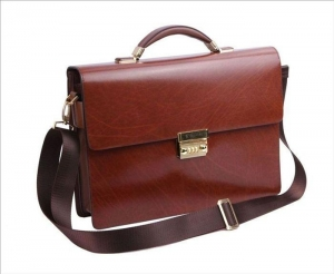 China # M6-2001, Italian cow leather briefcase on sale