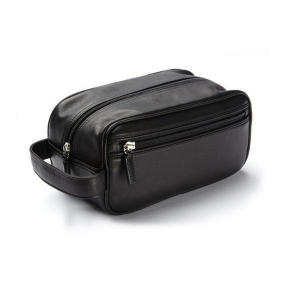 China Most Popular High Quallity PU Leather Men Toiletry Bags for Travel on sale