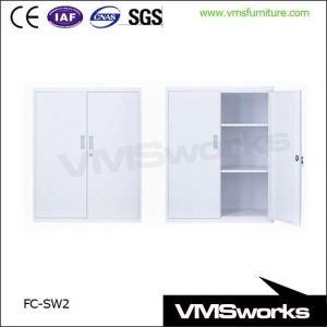 China Powder Coating 2 Swing Door Big Office Storage Cupboards With Asjustable Shelves on sale