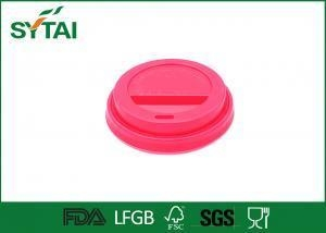 China 8 Oz Red Plastic Paper Cup Lids for Coffee or Tea Paper Cups on sale