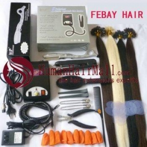 China Hair extensioin tools without hair COLD FUSION KERATIN KIT on sale