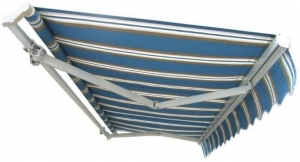China Full-cassette manual operation retractable awning manufacturer on sale