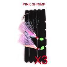 China Snapper Catcher Fishing Rig Natural Bait ColourPink Shrimp Fishing Hook on sale