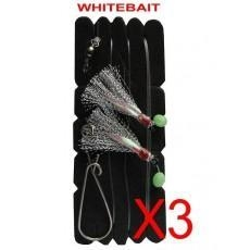 China Snapper Catcher Fishing Rig On Natural Bait Colour WhitebaitFishing Hook on sale