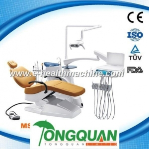 China high quality luxury Dental Chair MSLDU18D,genuine leather cushion on sale