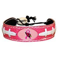 Arizona Cardinals Breast Cancer Awareness Ribbon Pink NFL Football Bracelet