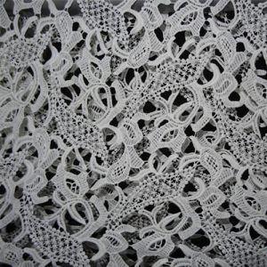 China Embroidery Lace Rayon Nylon Lace Fabrics on sale