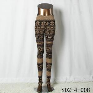 China Brown Ethnic Style Pattern Tribal Native American Leggings on sale