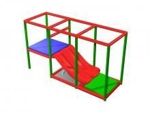 China Play System Components Twin Lane 1.5MTR Toddler Slide on sale