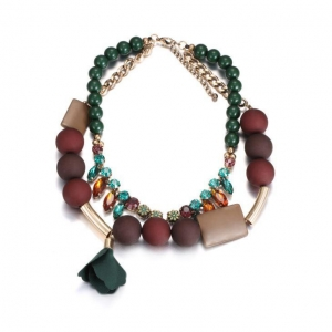 China Double Strand Bib Statement Necklace for Women NL-15140 on sale