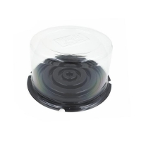 Plastic Cake Box Food Grade Customized Clear Plastic Disposable Take Away Container with Clear Lid