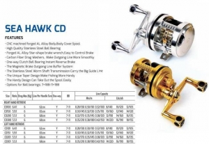 China FISHING ROD Bait casting reel-CD on sale