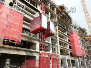China 1200kgs One Cage with Frequency Converter Building Hoist SC120G on sale