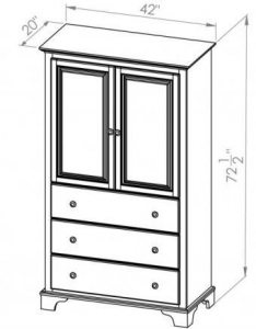 China Bedroom Georgian Bay 3 Drawer Armoire on sale