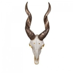 Antelope Head Wall Decor 7 x 4 x 15.5Ht.,Resin Bone & Bronze Finish