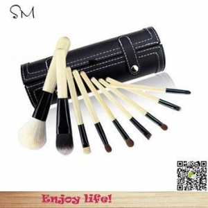 China Brand Professional New MC Makeup Brush 9 pcs/kit Cosmetic Make Up brushes Set with black pail case on sale