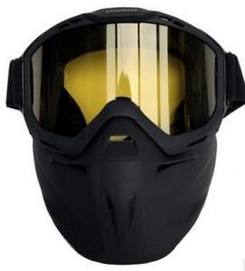 China Vintage Harley Goggles with mask fashionable face mask goggle mask removable on sale