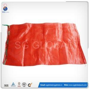 China 25kg Red PP Tubular Mesh Onion Bags on sale