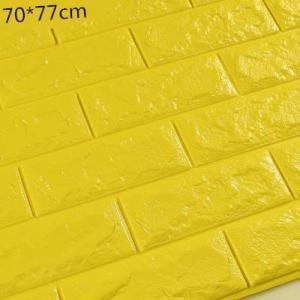 China Decorative Waterproof Stickers 3D brick Wall Sticker 3d foam wall stickers supplier on sale