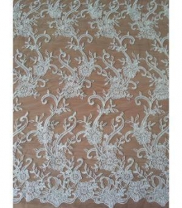 China Bridal Lace Fabric Bridal Lace Fabric With Beads For Wedding Dress (W9011) on sale