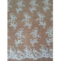 China Gorgeous Bridal Floral Pattern Lace Fabric(W9017) on sale