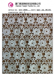 China Guipure Leavers Design Chemical Lace Fabric (S8094) on sale