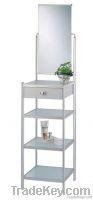 China Al Bathroom Free Standing Glass Shelf With Mirror on sale