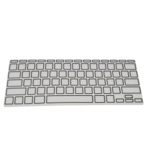 China Silicone Keyboard Protector Cover Silicone Skin for Apple macbook air 11 Border black on sale