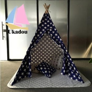 China Single Layers and Wood Pole Material Teepee for Camping on sale
