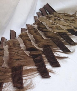 China Lace Band iband Natural Hairline Bleached Knots on sale