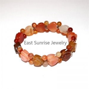 China Jewelry Series Semi precious stone spacer bracelet supplier