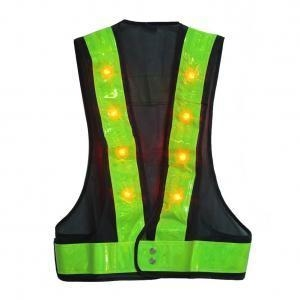 China KUMEED 16 LED Light UP Safety Visibility Vest Traffic Safety Vest with Reflective Stripes on sale