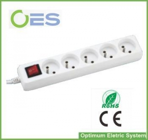 China European Standard 3pin French Type Surge Protector Power Strip/Extension Electric Socket on sale