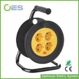 China Hot Selling High Quality European Type 4 Extension Cable reel /CE Listed Wire Rope Reel on sale