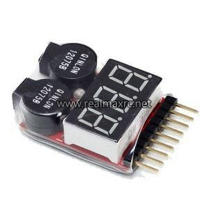 China Lipo Battery Low Voltage Tester 1s-8s Buzzer Alarm Indicator on sale