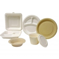 China Bagasse Pulp Molded Tableware on sale