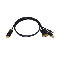 China Convertre VGA+RL to HDMI Cable Converter 5in1 SK-VTH51 on sale