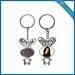 China Sublimation Rubbit shape metal Keychain on sale