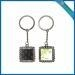 China Sublimation blank Wave edge square metal keychain on sale