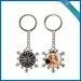 China Sublimation metal snowflake keychain on sale