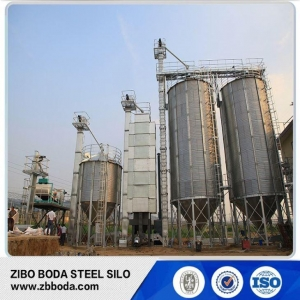 China Grain Mill Used Galvanized Corrugated Hopper Bottom Steel Silo Bins Passed ISO Standard on sale