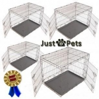 China Pets SMALL - MEDIUM - LARGE or EXTRA LARGE DOG PUPPY PORTABLE METAL TRAINING CARRY CAGE CRATE on sale