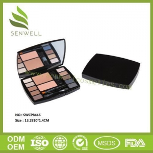 China Eye Shadow Eye Brow Makeup Multi Colors Waterproof Eyebrow Cake Powder Palette + Brush on sale