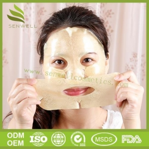 China New Face Mask AN Ultimate Luxurious Antiaging Treatment 24K Gold Lace Gel Face Mask on sale