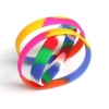 China Colorful Silicone Bangles for sale