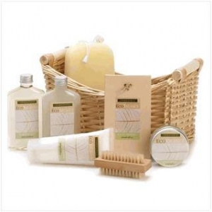 China Bath & Body Products Eco Balance Lemongrass Eucalyptus Bath Spa Basket on sale