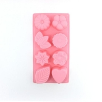 JF1066 Cavities Plant Flower Shape Silicone Soap Mould