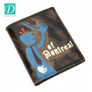 China China wholesales 100% genuine leather wallet high quality money clip pocket purse on sale