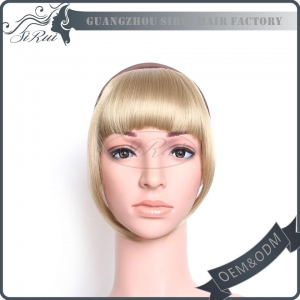 China Synthetic hair piece Synthetic hair bang on sale