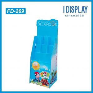 China POP floor card rack display for Happy Birthday Card on sale